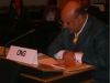 Barrister A. Majid Tramboo delivering ICHR intervention at Durban Review Conference